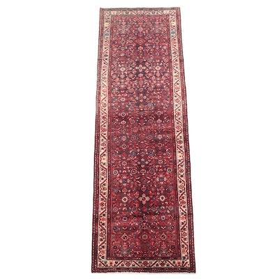 3'6 x 10'6 Hand-Knotted Persian Hamadan Herati Long Rug