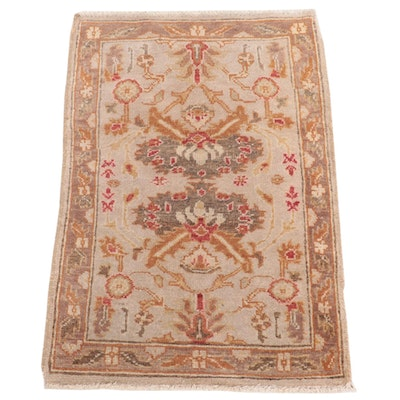 1'10 x 2'9 Hand-Knotted Indian Agra Accent Rug