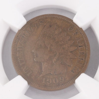 Key Date Low Mintage NGC Graded F12 BN 1909-S Indian Head Cent