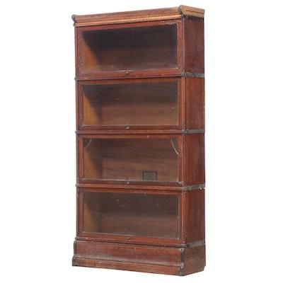 The Globe-Wernicke Co. Quartersawn Oak Four-Stack Barrister's Bookcase