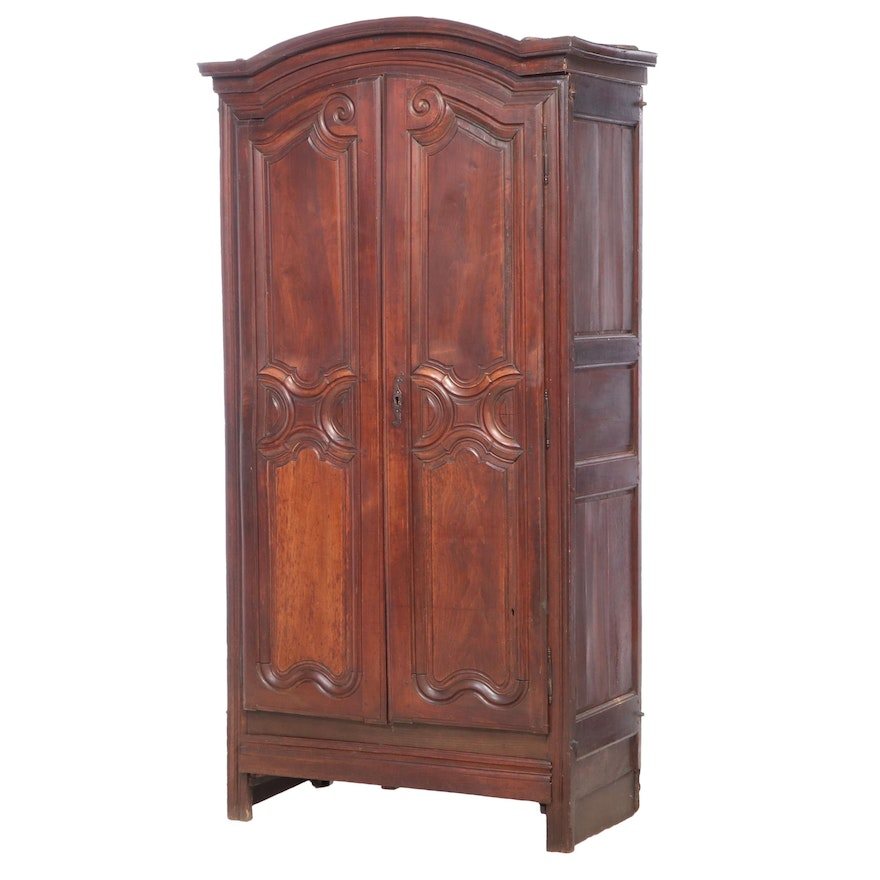 French Provincial Walnut, Beech, and Oak Armoire, Late 18th/Early 19th Century