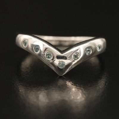 Sterling Alexandrite Chevron Ring