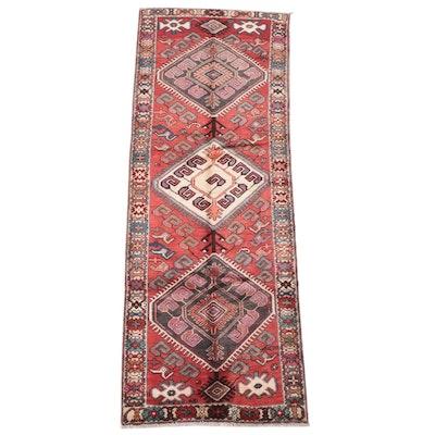 3'8 x 9'8 Hand-Knotted Caucasian Kazak Long Rug