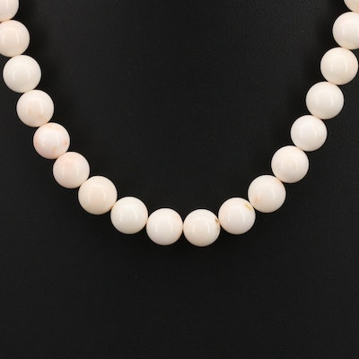 Coral Necklace with 14K Clasp