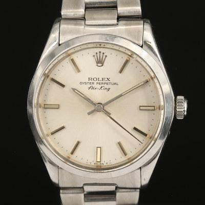 1977 Rolex Air-King Stainless Steel Wristwatch