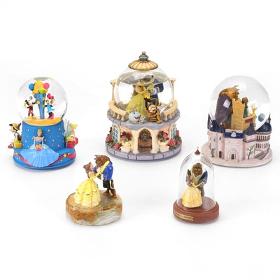 """Walt Disney """"Beauty and the Beast"""" Ron Lee Figurine and Snow-Globes with Other"""