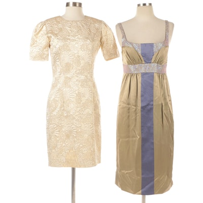 Occasion Dresses, Christian Chase in Gold and Nicole Miller in Satin