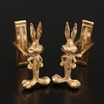 Michael Anthony and Warner Brothers 14K Bugs Bunny Cufflinks