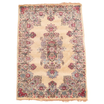 2'11 x 4'6 Hand-Knotted Persian Kerman Accent Rug