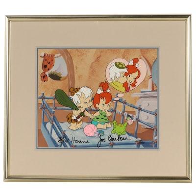 Bill Hanna and Joe Barbera Animation Cel of Pebbles and Bamm-Bamm, 1991