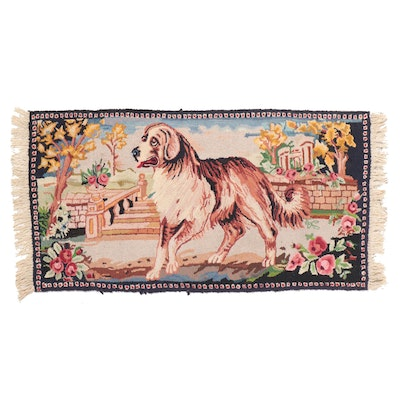 2'4 x 5'3 Hand-Hooked Pictorial Accent Rug