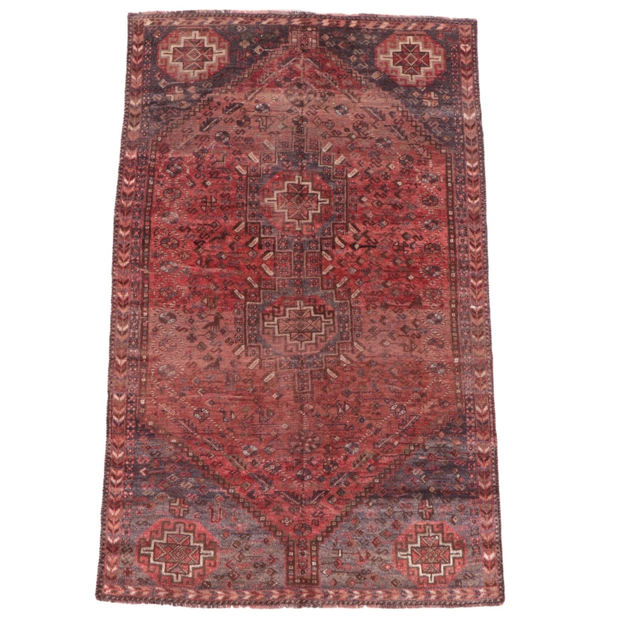 4'7 x 6'8 Hand-Knotted Persian Qashqai Area Rug