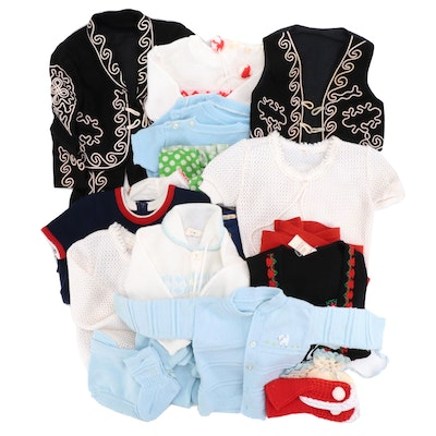 Boys' and Girls' Mariachi Three-Piece Set, Sweaters, Dresses, Onesies, and Socks