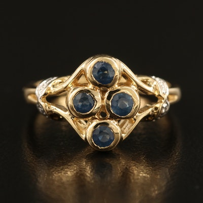 Sterling Sapphire Four Stone Ring