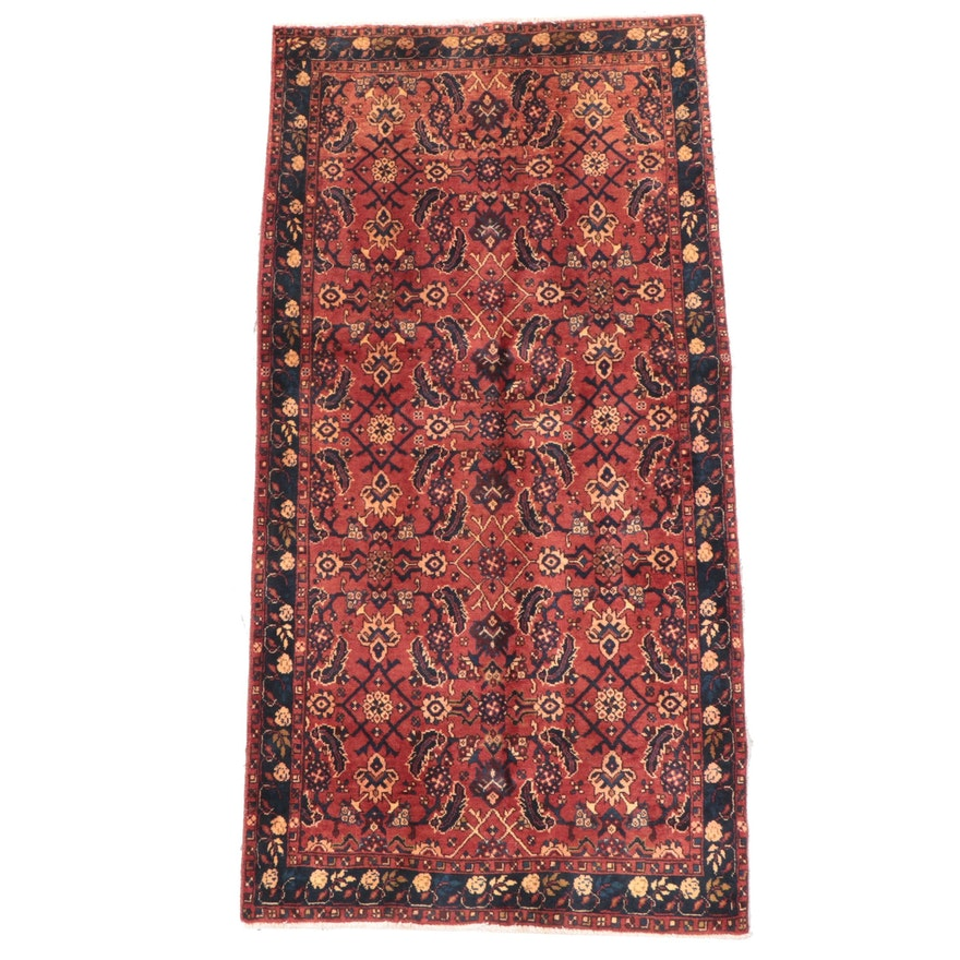 3'8 x 7'5 Hand-Knotted Persian Hamadan Area Rug