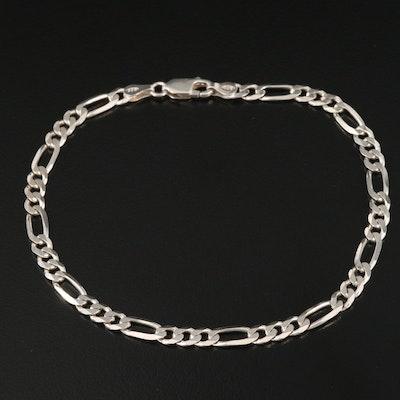 Italian Sterling Figaro Bracelet