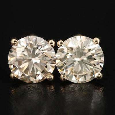 14K 3.06 CTW Diamond Stud Earrings
