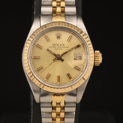 1983 Rolex Oyster Perpetual Date 18K and Stainless Steel Wristwatch