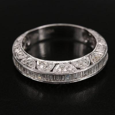 14K 1.50 CTW Diamond Band with Milgrain Detail