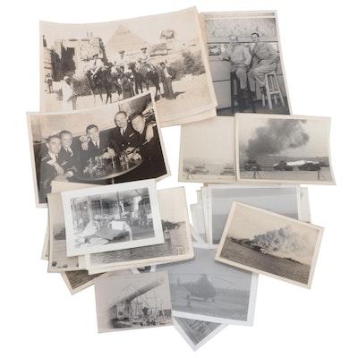 World War II Military and Travel Silver Gelatin Photographs, Circa 1942