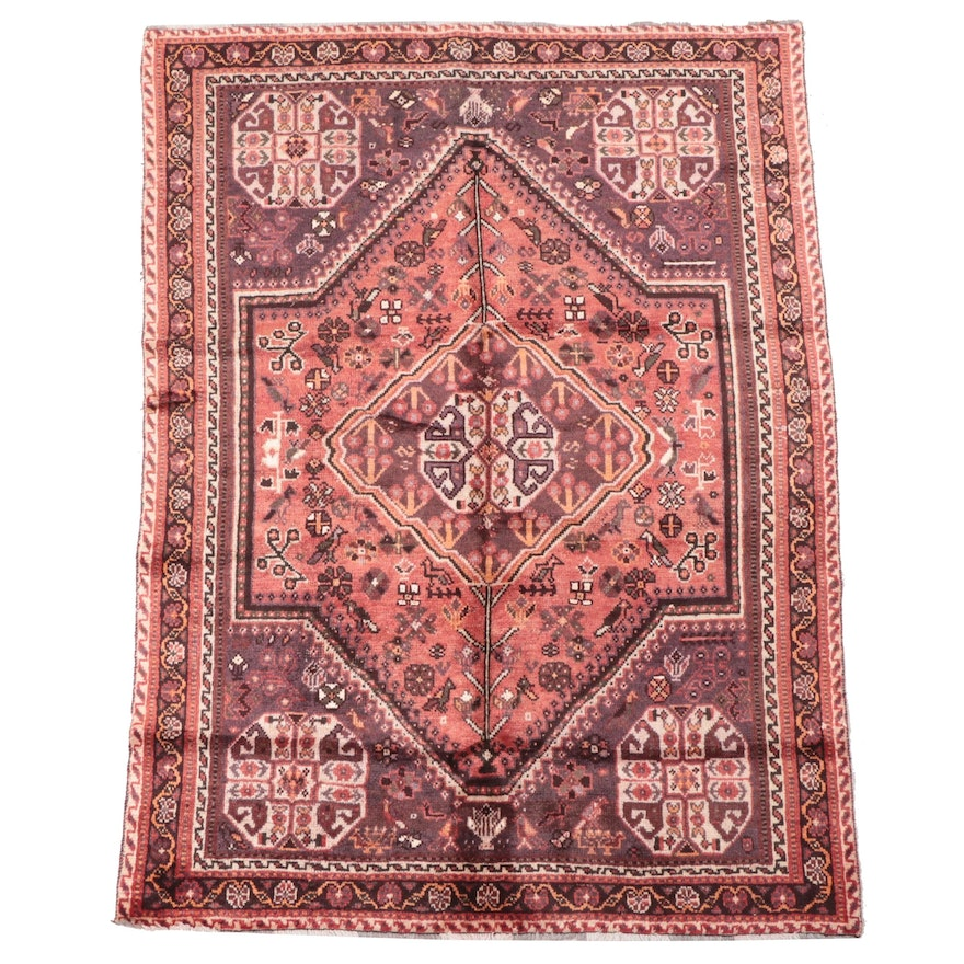 5'6 x 7'6 Hand-Knotted Persian Abadeh Area Rug