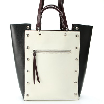 Mulberry Studded Oversized Maple Tote in Multicolor Leather