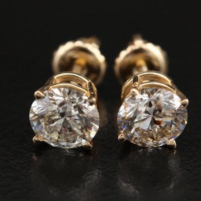 14K 2.22 CTW Diamond Stud Earrings