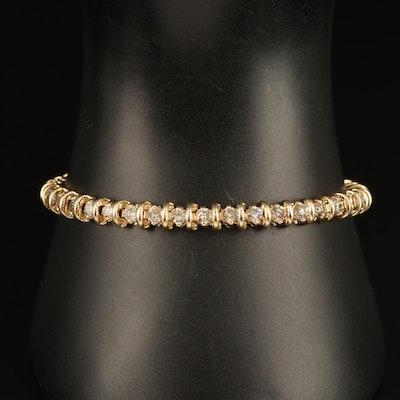 14K 3.25 CTW Diamond Link Bracelet