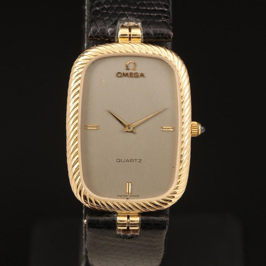 14K Omega Quartz Wristwatch