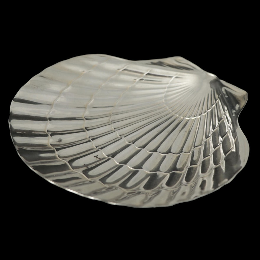 Tiffany & Co. Sterling Silver Shell Shaped Bonbon Bowl