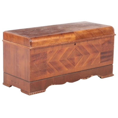 "Lane Art Deco Walnut and Cedar-Lined ""Aroma-Tight"" Chest, Mid-20th Century"
