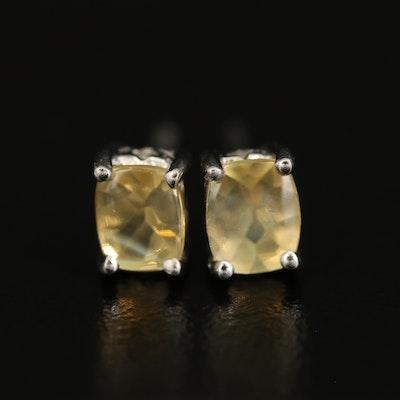 Sterling Labradorite Stud Earrings
