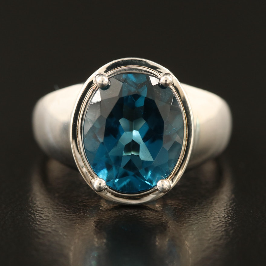 Sterling London Blue Topaz Ring