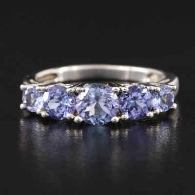 Sterling Graduated Tanzanite Ring