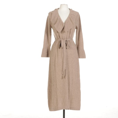 Maddy James Cashmere Tie Belt Duster with Bell Cuffs