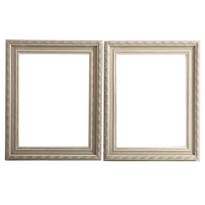 Pair of Large Metallic Picture Frames