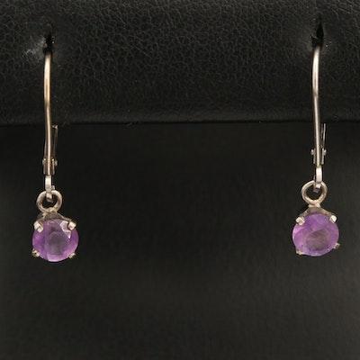 14K Amethyst Drop Earrings