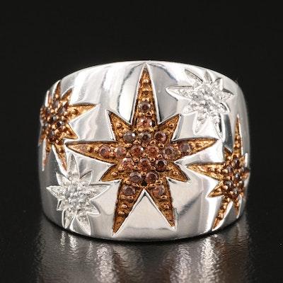 Eva LaRue Sterling Zircon Star Ring
