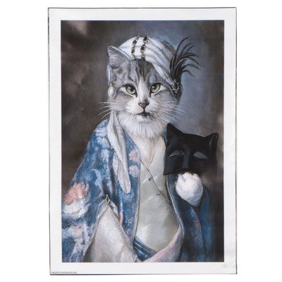 Giclée of Anthropomorphic Cat, 21st Century