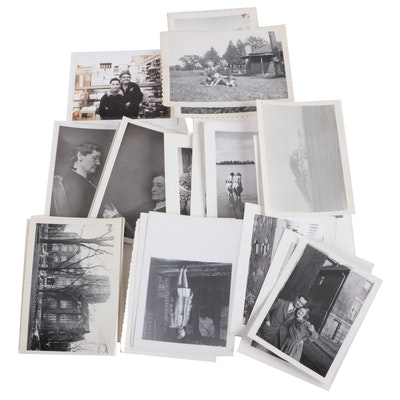 Family Portrait and Travel Silver Gelatin Prints, Mid-20th Century