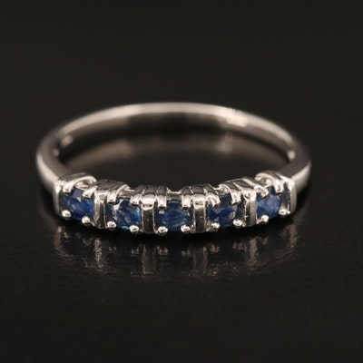 Stering Sapphire Five Stone Band