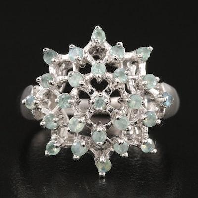 Sterling Silver Alexandrite Openwork Ring