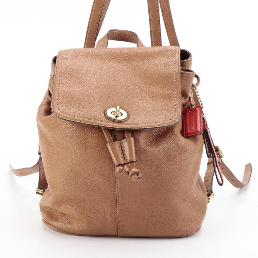 Coach Park Backpack in Brown Leather