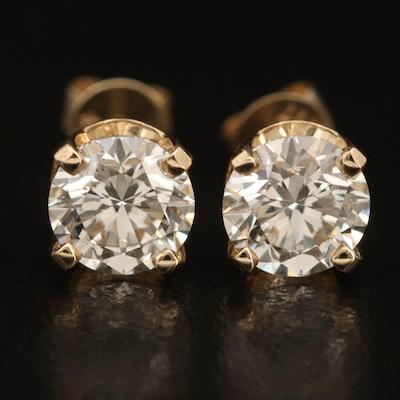 14K 2.02 CTW Diamond Stud Earrings with IGI Diamond Reports