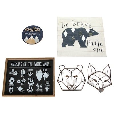 Hobby Lobby Nature Themed Signs with Other Woodland Animal Wall Decor