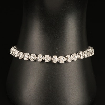 Sterling Diamond Infinity Link Bracelet