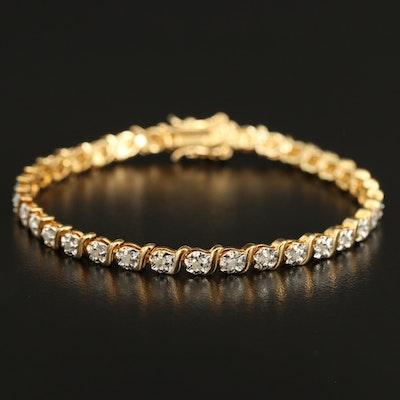 Sterling Diamond Bracelet
