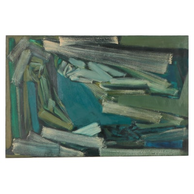 Don Stacy Monumental Oil Painting of Reclining Figure, Circa 1960