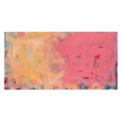 """Robbie Kemper Acrylic Painting """"2 Squares in Horizontal"""""""