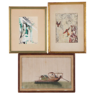 East Asian and Abstract Paintings